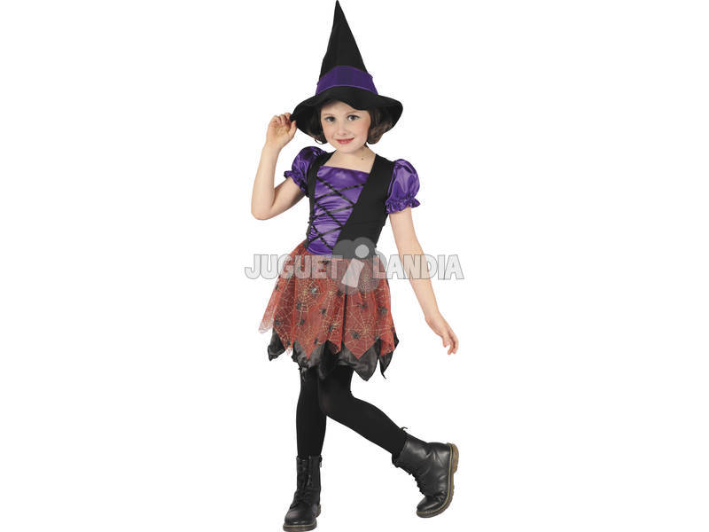 Fantasia bruxa Menina Tamanho S