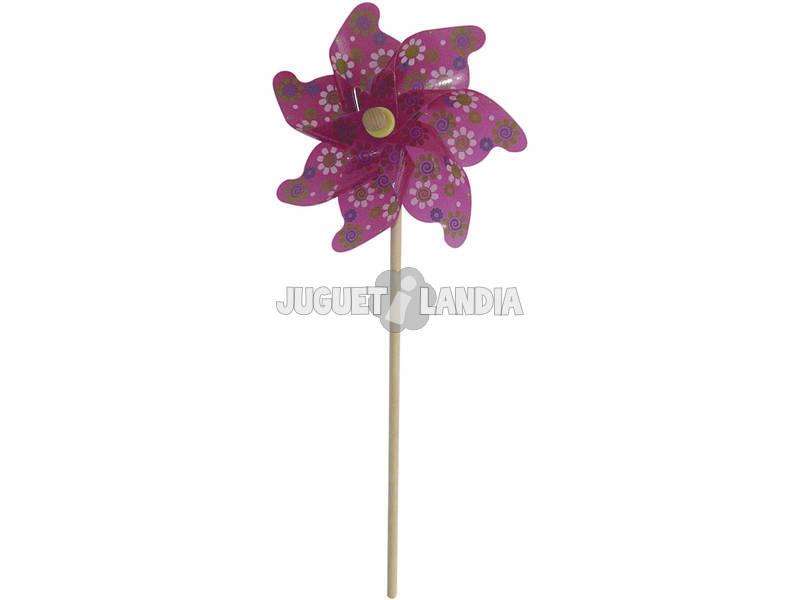 Moinho de Vento 74 cm Flores
