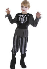 imagen Disfraz Pirata Esqueleto Niño Talla M