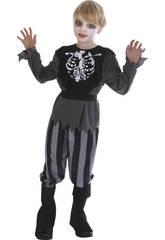 imagen Disfraz Pirata Esqueleto Niño Talla XL