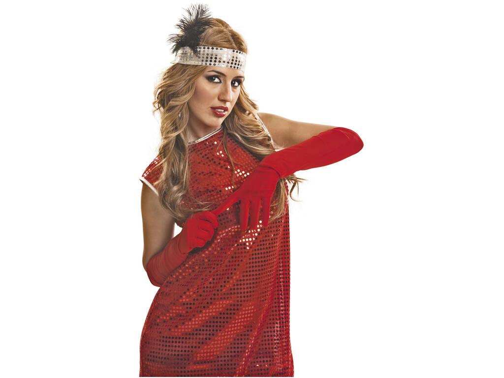 Gant Lisse Rouge de 45 cm
