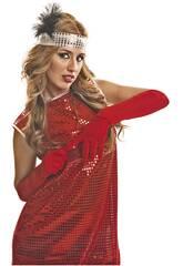 Guante Liso Rojo de 45 cm.