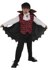 Disfraz Vampiro Calaveras Rojas Niño Talla M