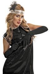 Guante Liso Negro de 45 cm.