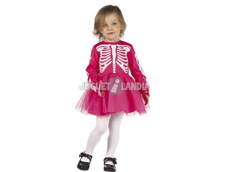 Fantasia Esqueleto Menina Bebé Tamanho S