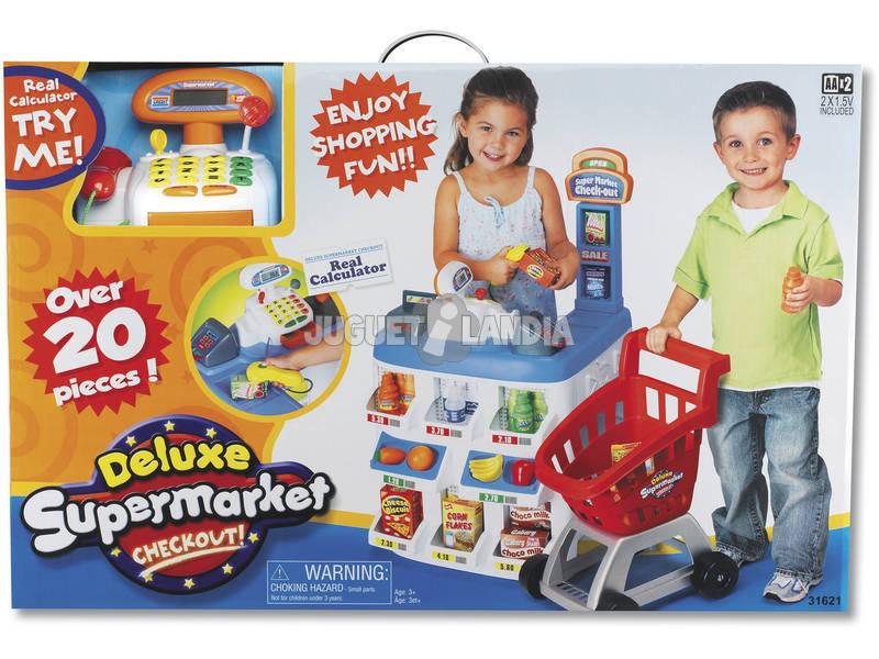 Supermercado deluxe con accesorios juguetilandia - Accesorios para supermercados ...