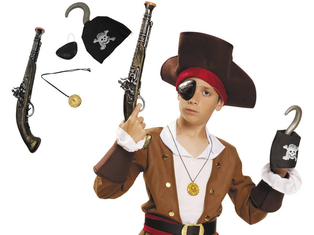 Pistola de Pirata Con Parche Y Garfio