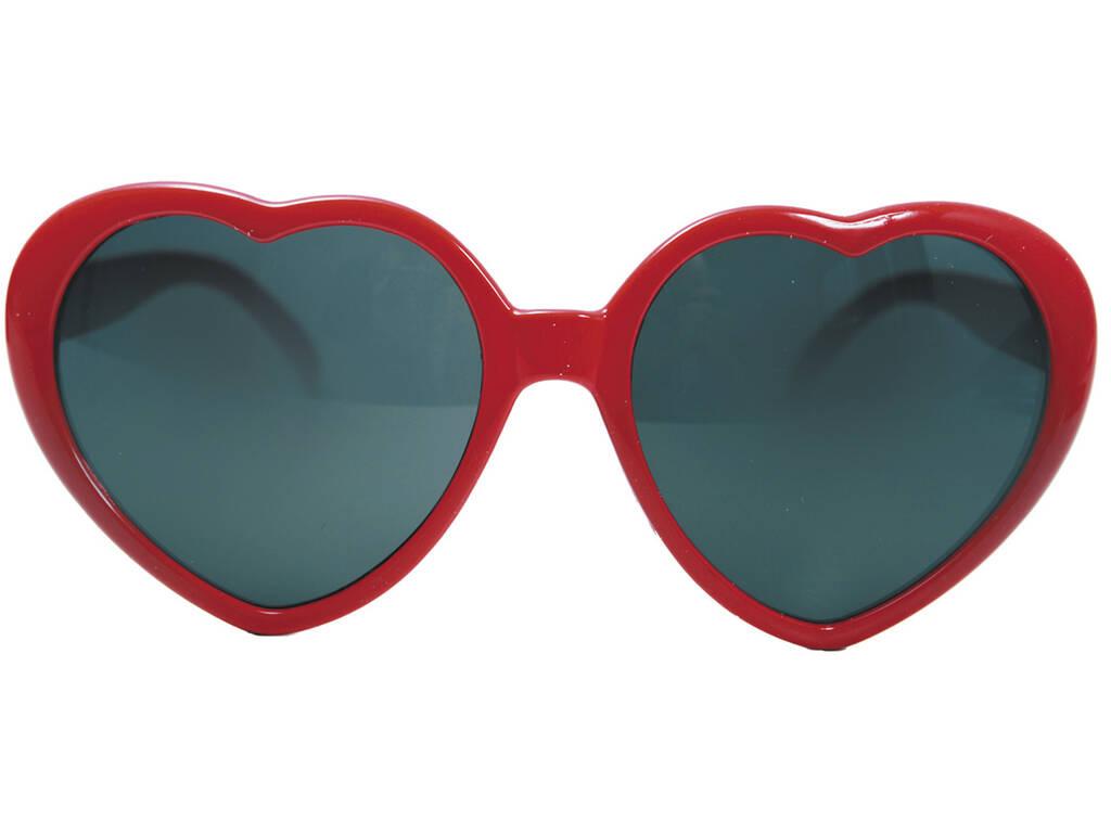 Óculos Forma de Coração Vermelhos