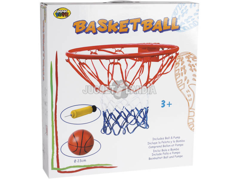 Canasta Baloncesto con pelota 23 cm.