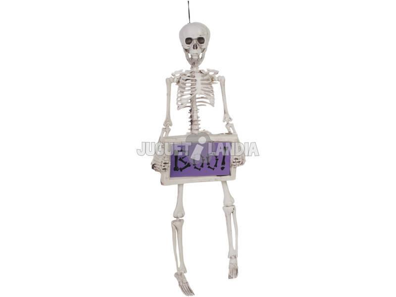 Esqueleto con Cartel Boo