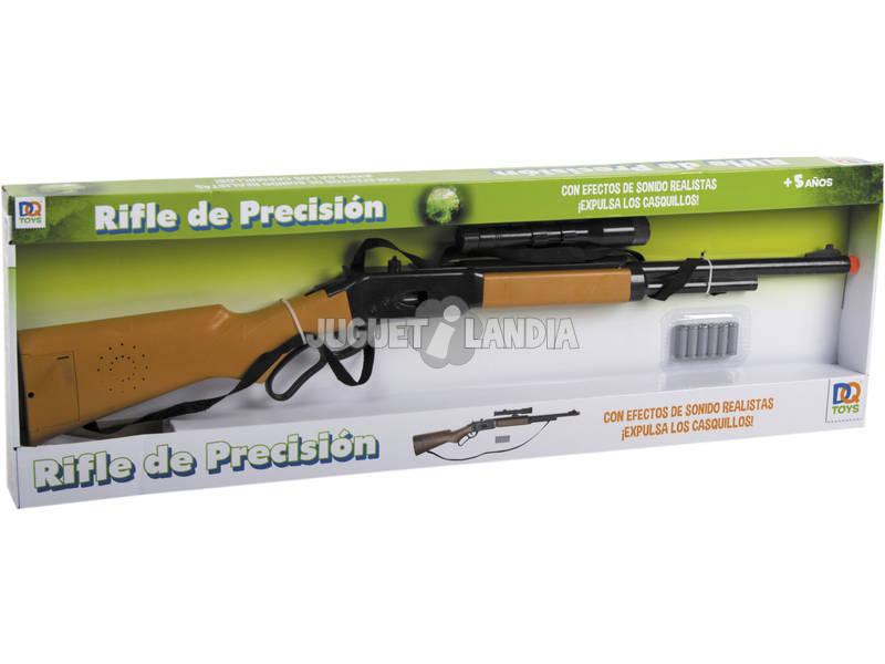 Rifle con mira telescopica y sonidos
