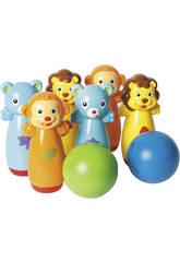 Bowling Petits animaux 8 quilles avec 2 boules