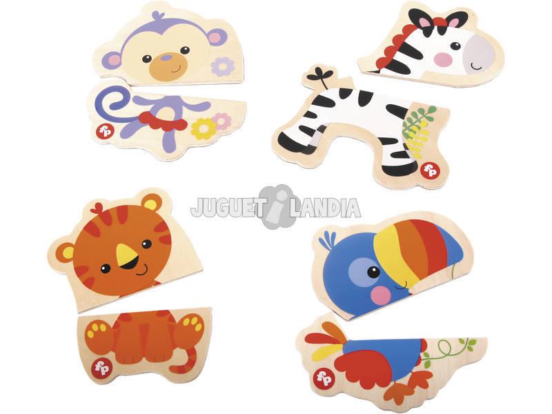 Puzzle Magnétique 4 petites bêtes