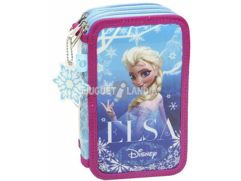 Frozen Estuche 3 Pisos Glitter