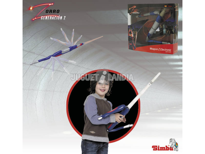 Zorro Generacion Z espada luz y sonido