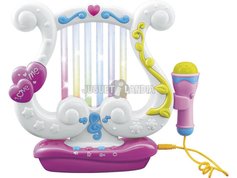 Harpe avec lumière et microphone