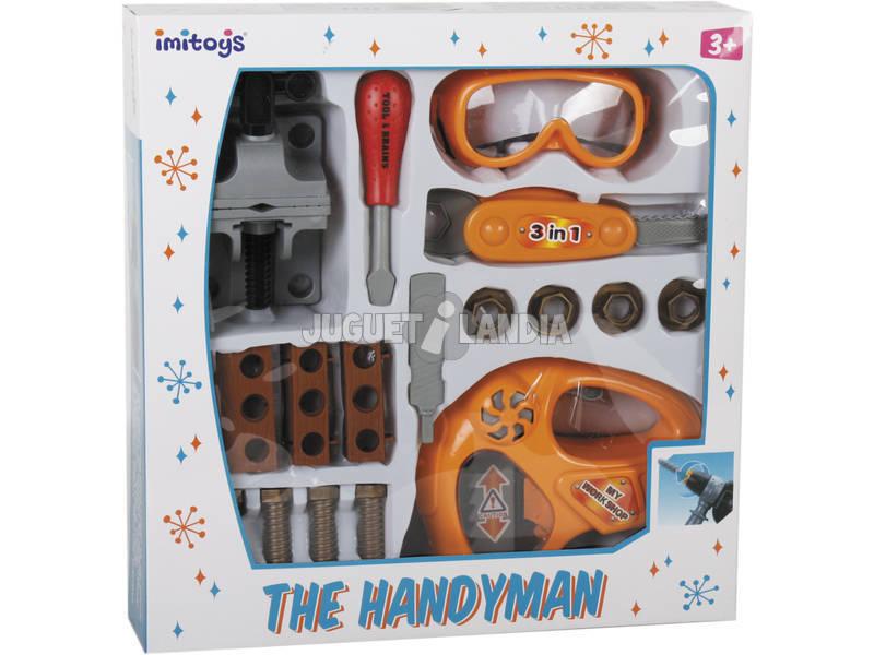 Set 18 peças Feramentas de Brinquedo com Serras Recortes