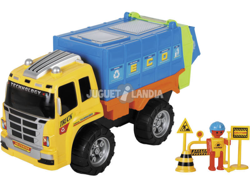 Camião Coleta de Resíduos 44cm. Com Acessórios