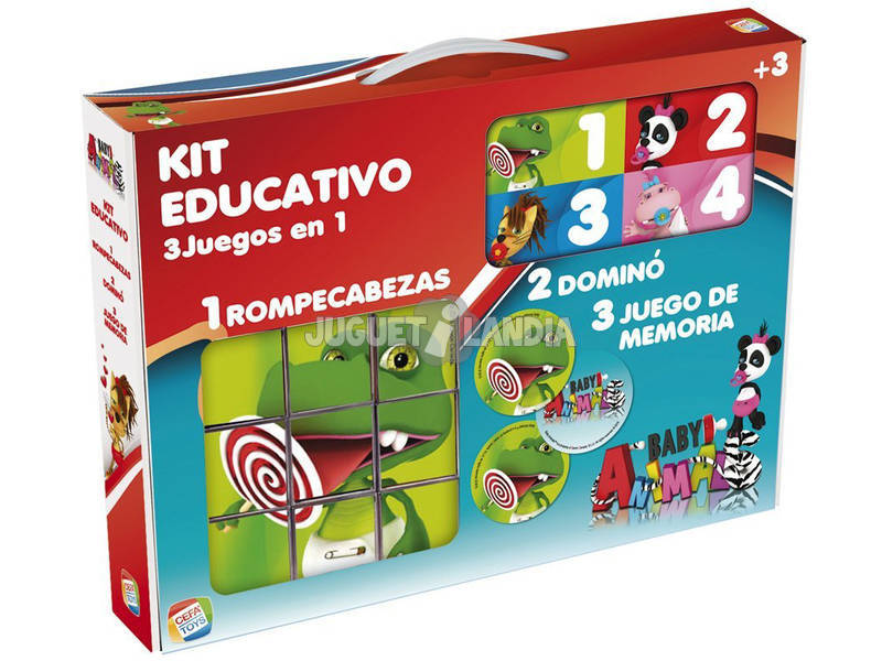 Kit Educativo de Animais Bebés