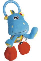 Peluche Baby crabe Hochet Actividés Hipopotame