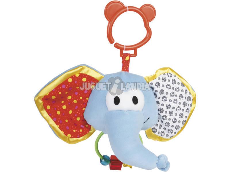Peluche Baby Chocalho Giros Elefante