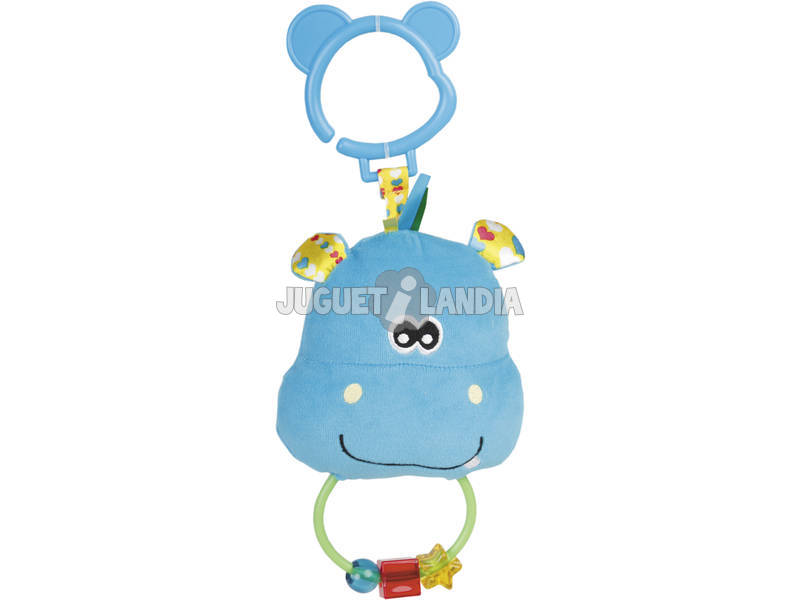 Peluche Baby Chocalho Giros Hipopotamo