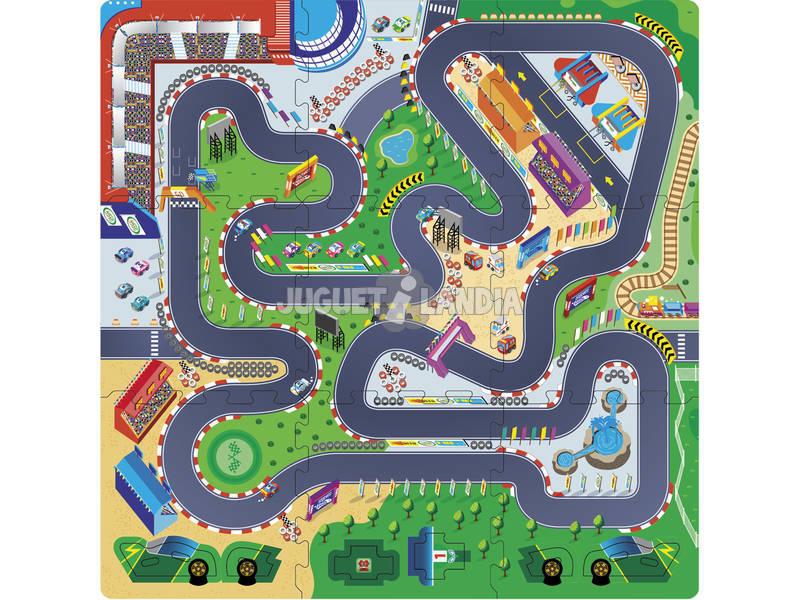 Puzzle Eva 9 Peças Circuito de Corridas