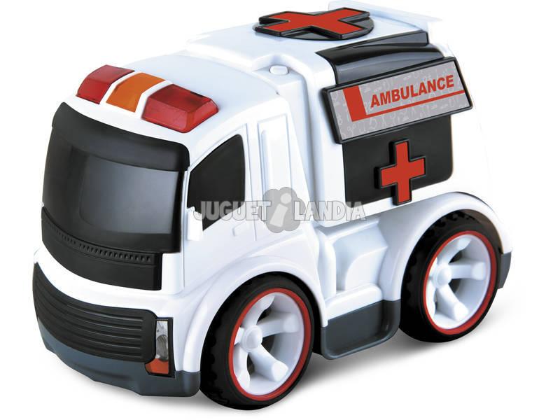 Radio Control Ambulancia con Sonido 17 cm.