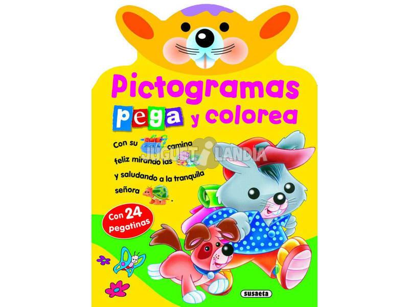 Libro Pictogramas Pega y Colorea Susaeta S2598