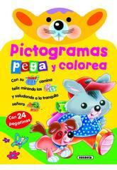 imagen Libro Pictogramas Pega y Colorea Susaeta S2598