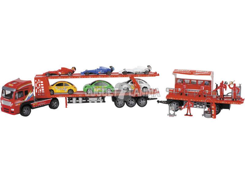 Caminhão Fricção 105 cm. com Acessórios Carros