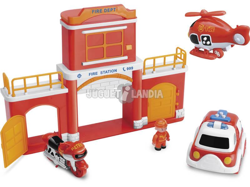 Estación de Bomberos de Juguete con Vehículos