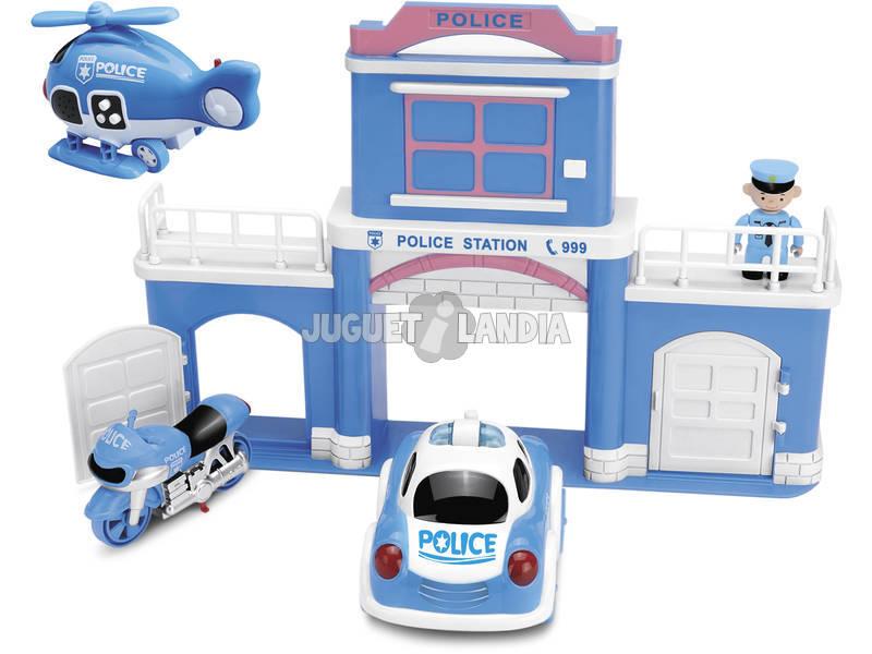 Comisaria de Policia con Vehiculos