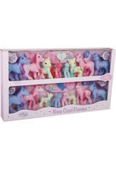 Familia Ponys 16 piezas con Accesorios