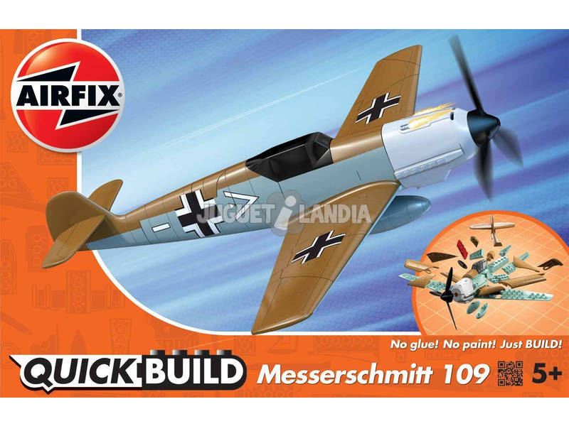 Quick Build Avião Messerschmitt 109e Desert