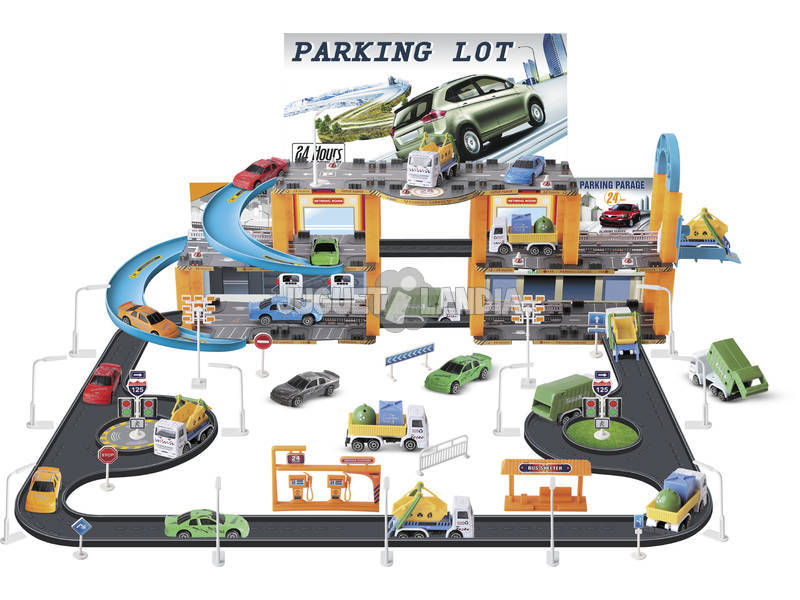 Parking de Juguete con Vehículos 109 Piezas