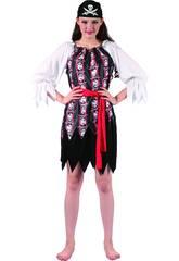 Kostüm Piratin Totenköpfe Frau Größe XL