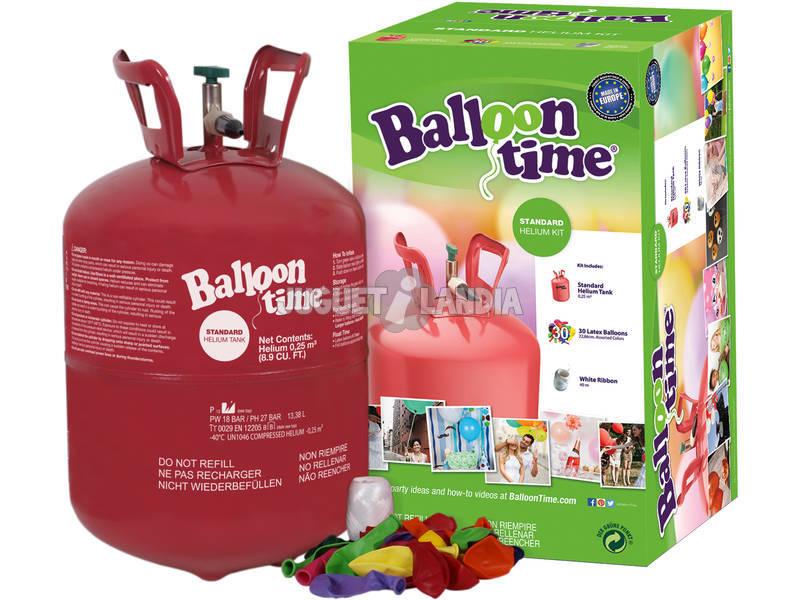 Bombonne Hélium avec 30 Globes