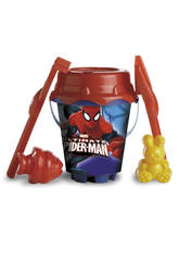 Cubo 18 cm. Ø Castillo Spiderman