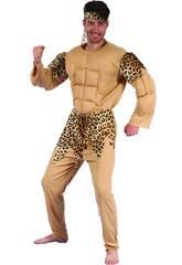 Maschera Cavernicolo Muscoloso Uomo Taglia XL