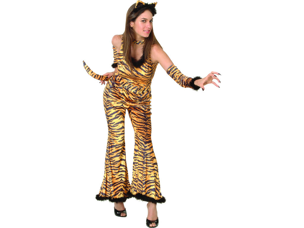 Disfarce Tigresa Selvagem Mulher Tamanho L