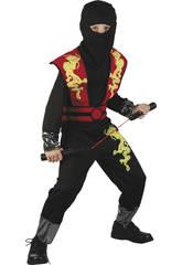 Déguisement  Dragon Ninja Rouge Garçon Taille S