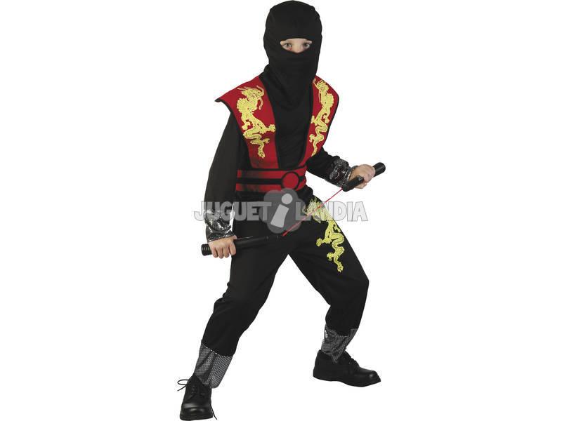 Disfraz Dragon Ninja Rojo Niño Talla XL