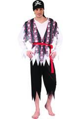 Disfraz Pirata Franjas Hombre Talla XL