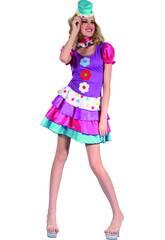 Disfraz Payasa Mujer Talla XL