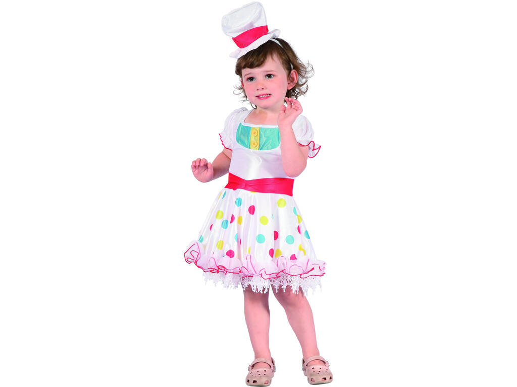 Disfraz Payasa Blanca Bebé Talla M