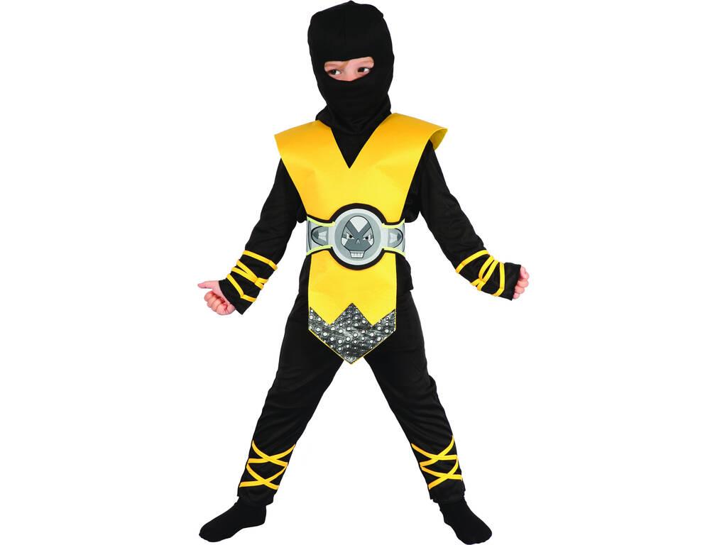 Disfarce Ninja Amarelo Bebé Tamanho S