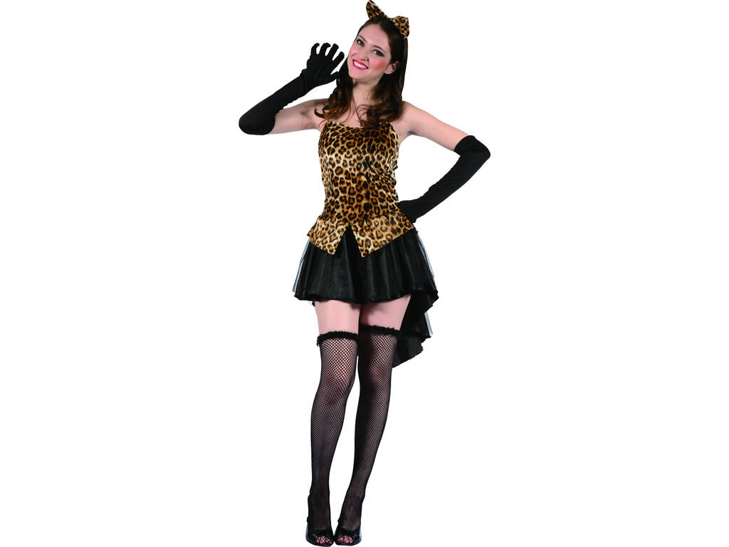 Disfarce Leoparda Mulher Mujer Tamanho L