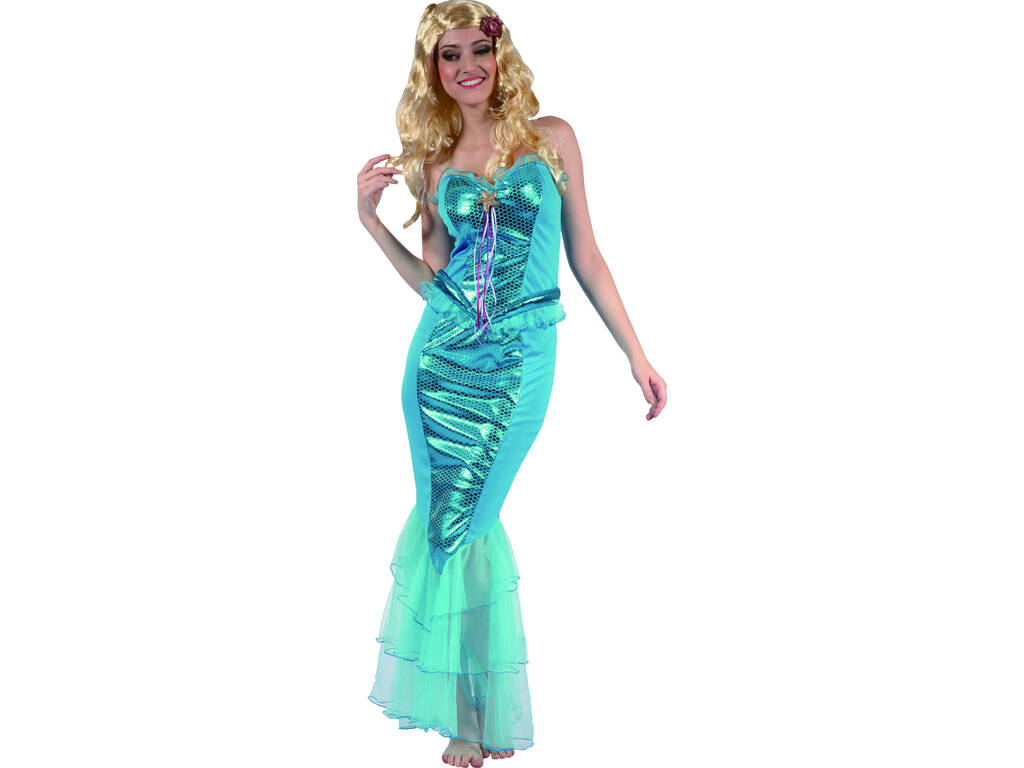 Disfraz Sirenita Estrella de Mar Mujer Talla L