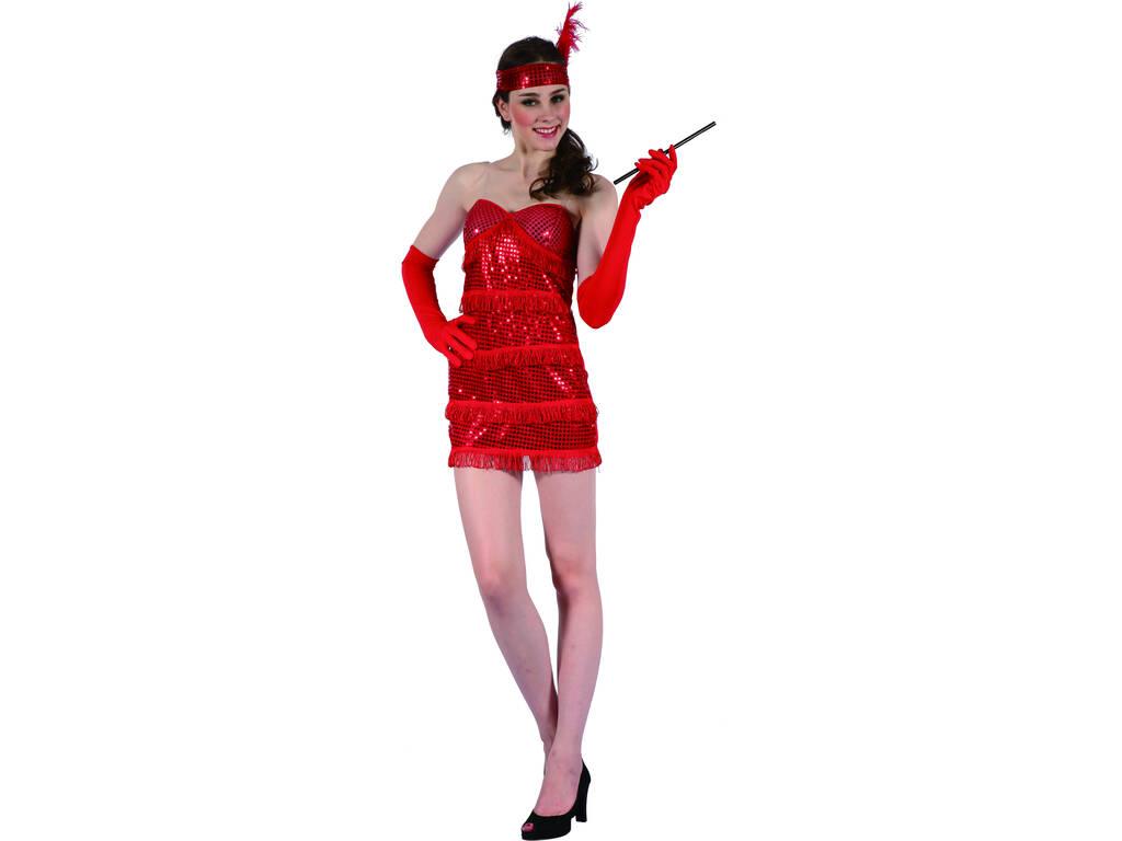 Disfarce Rapariga Moderna Vermelha Mulher Tamanho XL
